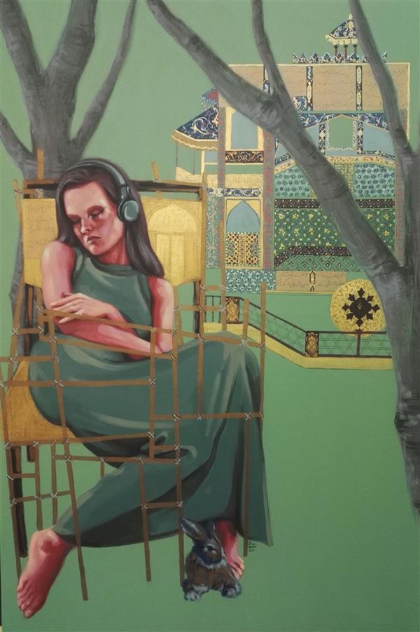 هنر نقاشی و گرافیک محفل نقاشی و گرافیک الهام حسین پور آکریلیک، روی بوم، سال خلق ۱۳۹۹, عنوان اثر: دور از خانه، هنرمند: الهام حسین پور