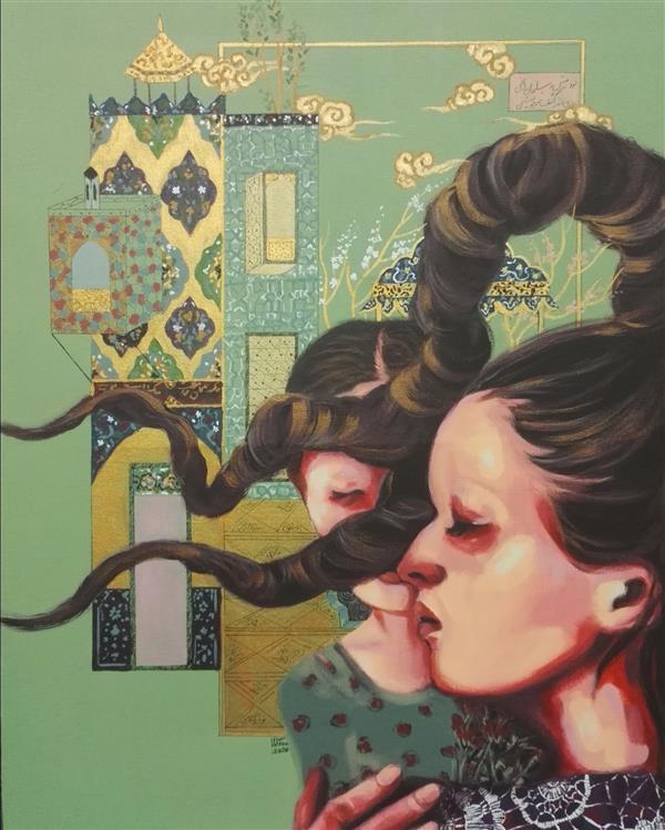 هنر نقاشی و گرافیک محفل نقاشی و گرافیک الهام حسین پور آکریلیک روی بوم، سال ۱۳۹۹, عنوان اثر: کودک درون، نام هنرمند: الهام حسین پور