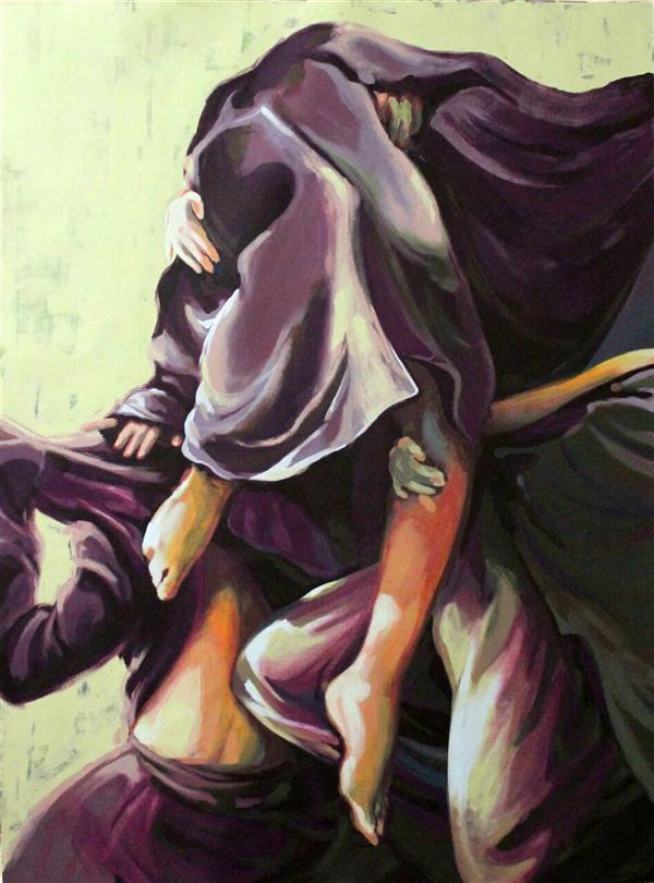 هنر نقاشی و گرافیک محفل نقاشی و گرافیک الهام حسین پور بدون عنوان، 129×99،آکریلیک، چهارچوب بدون شیب همراه با زهوار