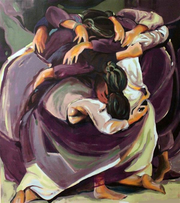 هنر نقاشی و گرافیک محفل نقاشی و گرافیک الهام حسین پور بدون عنوان، 116×131, آکریلیک، چهارچوب بدون شیب همراه با زهوار