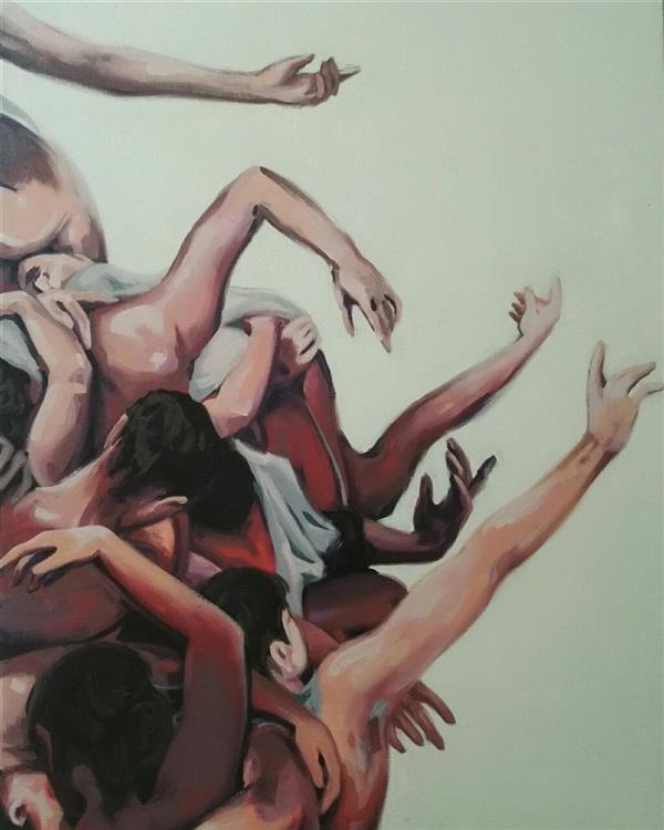 هنر نقاشی و گرافیک محفل نقاشی و گرافیک الهام حسین پور عنوان_ باله,102×71, آکریلیک، بوم #فروخته_شد