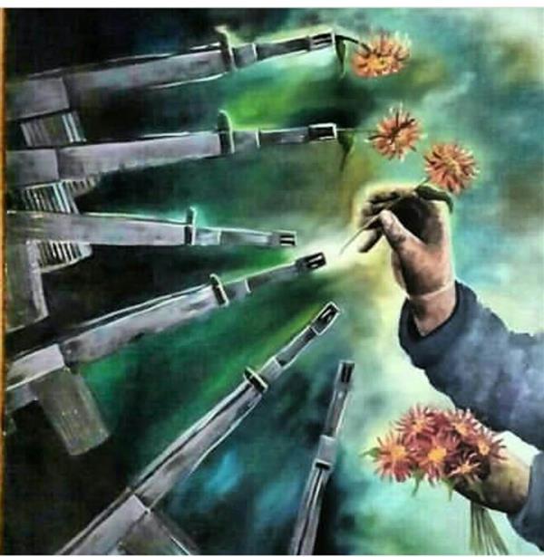 هنر نقاشی و گرافیک محفل نقاشی و گرافیک آزاده محمدرضایی نقاشی رنگ روغن با موضوع دهه فجر