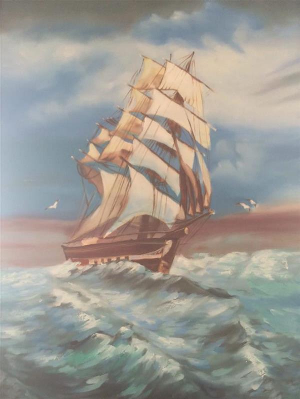 هنر نقاشی و گرافیک محفل نقاشی و گرافیک دریا بهرامی سال ١٣٩١ - رنگ روغن