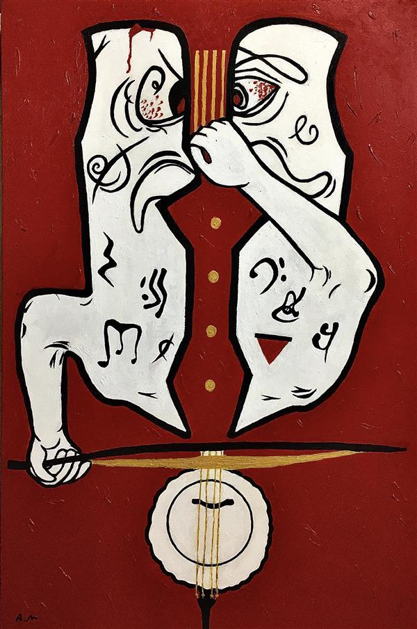 هنر نقاشی و گرافیک محفل نقاشی و گرافیک abs The duet of a soloist. دوئت یک سولیست. اکرلیک روی بوم #کمانچه #kamanche #نئو_اکسپرسیونیسم #هنر-معناگرا #neo-expressionism #کانسپچوال #coneptualart #conceptual #expressionart #popart #نقاشی_کانسپچوال #نقاشی_موسیقی #نقاشی_کمانچه #نئواکسپرسیون #مدرن #هنرمدرن #هنرمعاصر #contemporaryart #modernart #مدرن #تابلو #نقاشی_مدرن #پاپ_آرت #برجسته #قرمز #اکریلیک #بوم
