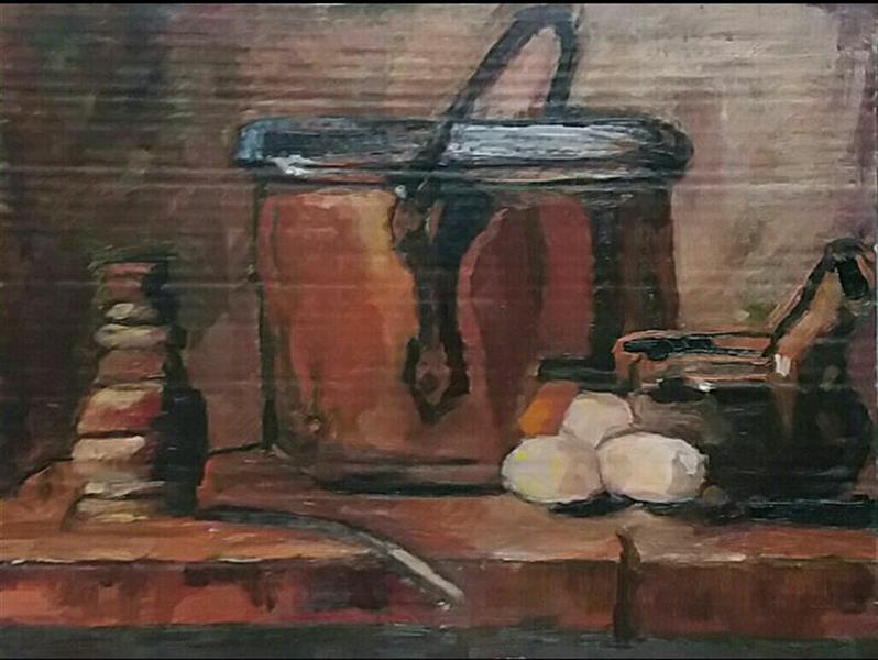 هنر نقاشی و گرافیک محفل نقاشی و گرافیک عاطفه رفیعا مطالعه اثر نقاشی سیمن شاردن.رنگ روغن.آبان نود و شش.زیر نظر مدرس :خانم شروین کندری.
