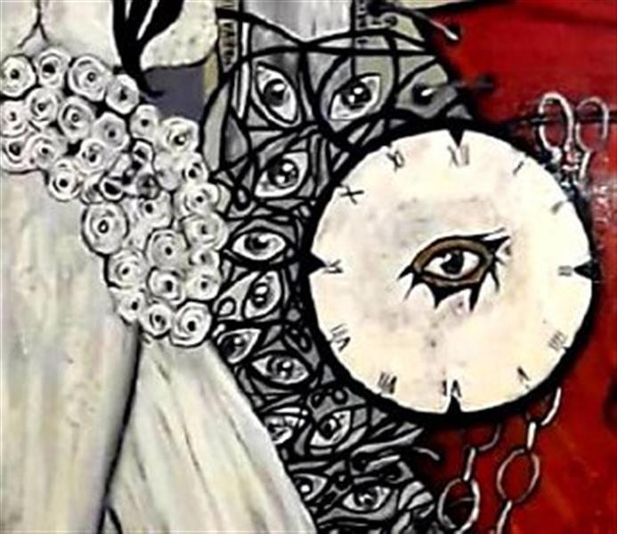 هنر نقاشی و گرافیک محفل نقاشی و گرافیک ساعده همه کش(باران) قسمتی از مجموعه خدا حافظ روزهای خاکستری ابعاد۲۰۰×۲۰۰ تکنیک رنگ روغن