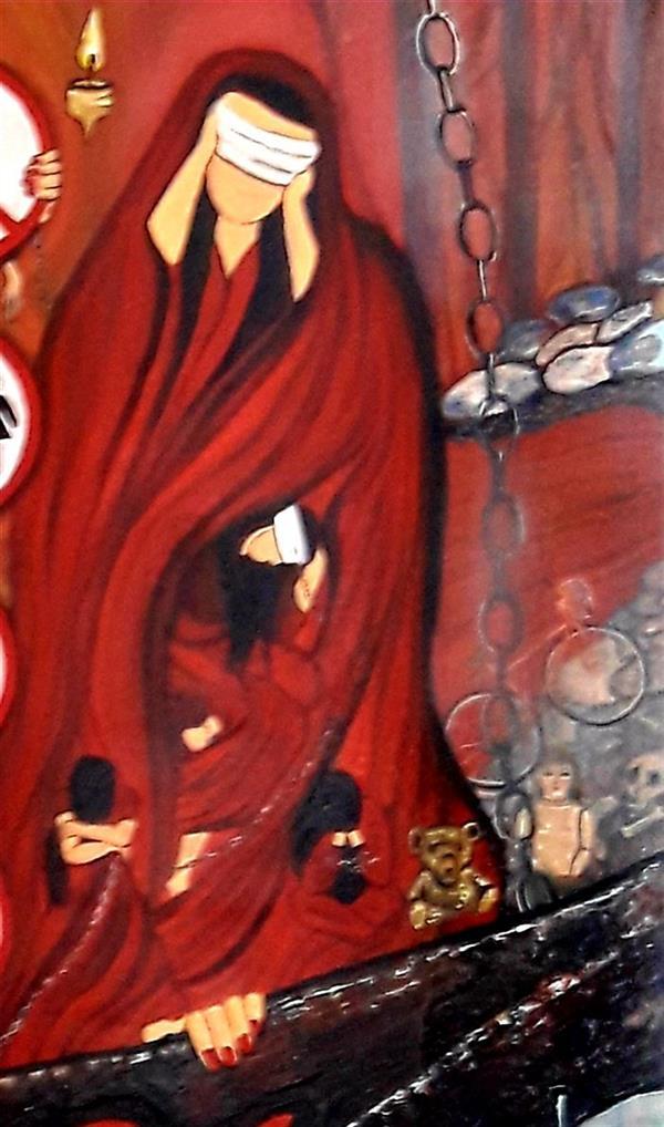 هنر نقاشی و گرافیک محفل نقاشی و گرافیک ساعده همه کش(باران) بخشی از مجموعه خدا حافظ روز های خاکستری ابعاد۲۰۰×۲۰۰  تکنیک رنگ روغن