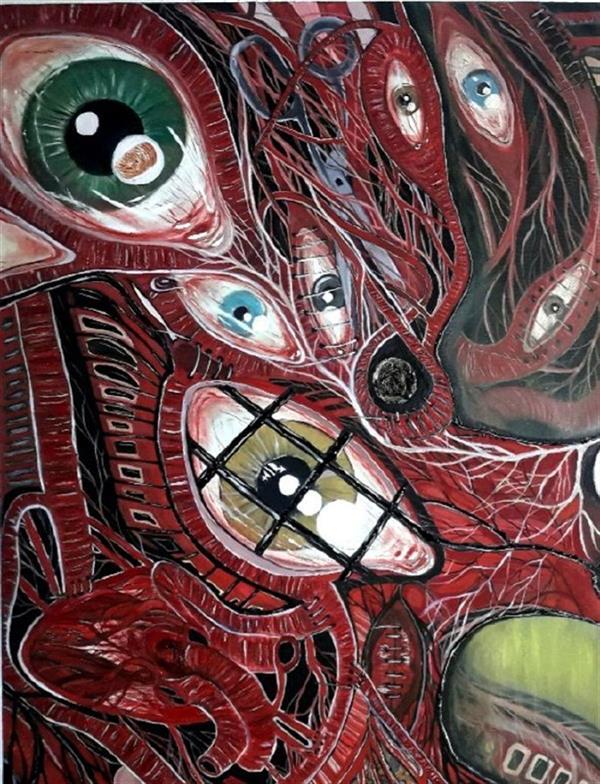 هنر نقاشی و گرافیک محفل نقاشی و گرافیک ساعده همه کش(باران) قسمتی از (مرانگاه کن) ابعاد۸۰×۶۰ تکنیک:رنگ روغن