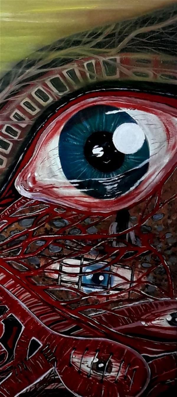 هنر نقاشی و گرافیک محفل نقاشی و گرافیک ساعده همه کش(باران) قسمتی از مرا نگاه کن ابعاد ۸۰×۶۰ تکنیک رنگ روغن
