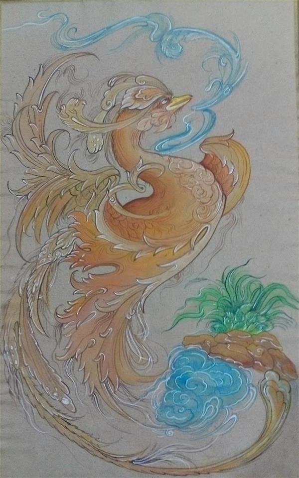 هنر نقاشی و گرافیک محفل نقاشی و گرافیک ابراهیم دلاوران نگارگری(گرفت و گیر)  اندازه اثر۳۵*۵۰