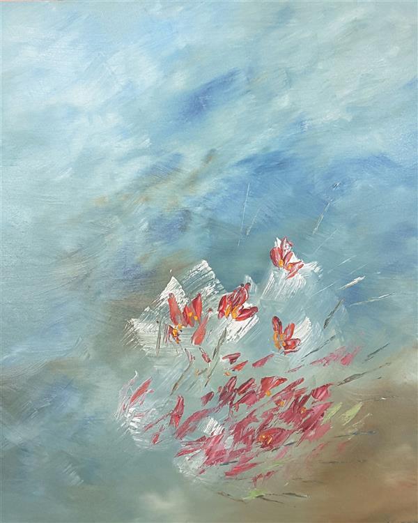 هنر نقاشی و گرافیک محفل نقاشی و گرافیک محسن نراقی 40x50 cm  # رنگ و روغن روی بوم            پارچه بوم روی ام دی اف 3میل نصب شده
