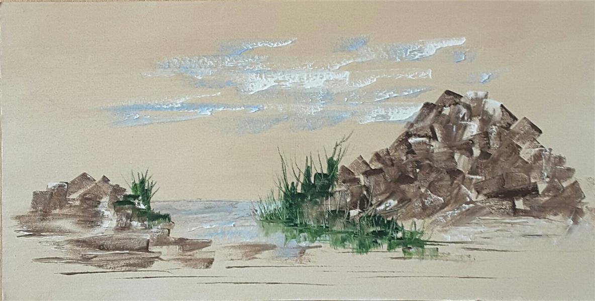 هنر نقاشی و گرافیک محفل نقاشی و گرافیک محسن نراقی رنگ و رو غن روی بوم        ۱۳۹۹    بدون عنوان