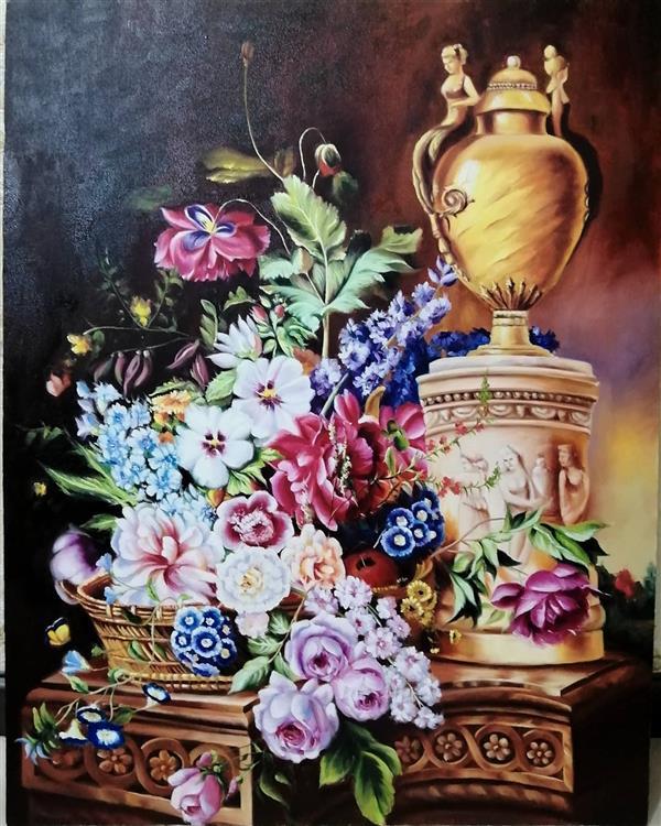 هنر نقاشی و گرافیک محفل نقاشی و گرافیک زینب خسرج طبیعت بیجان رنگ وروغن