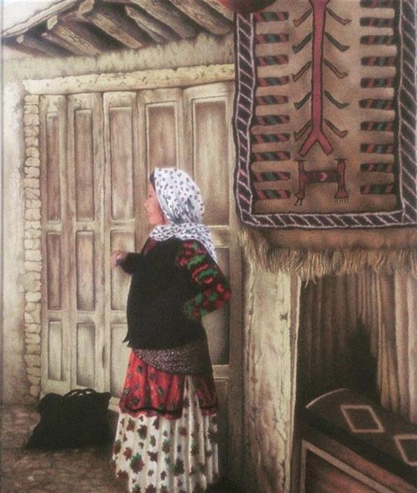 هنر نقاشی و گرافیک محفل نقاشی و گرافیک فریده سادات حسینی عكس از روستاي ماسوله،اورجينال
