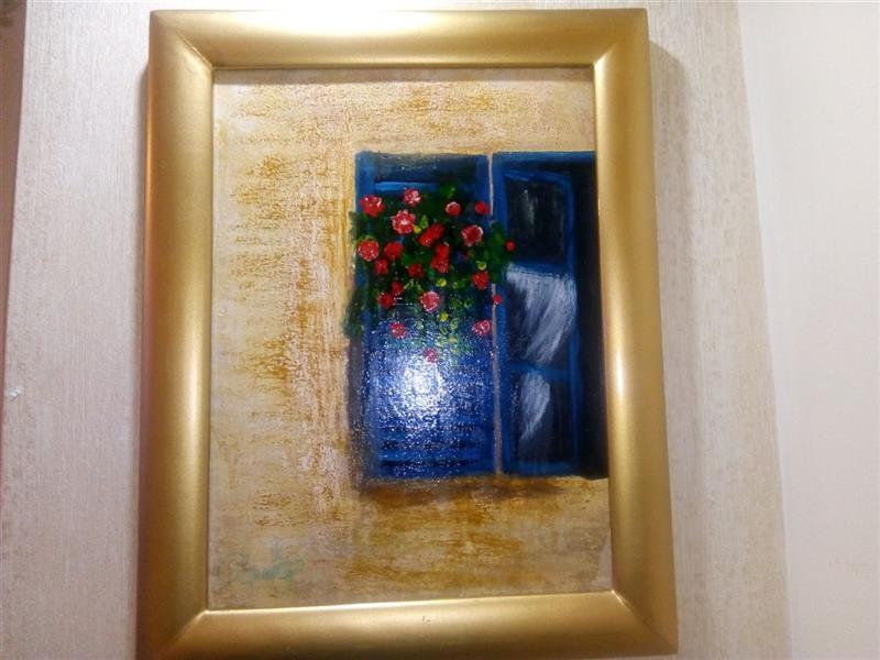 هنر نقاشی و گرافیک محفل نقاشی و گرافیک ندا گودرز تابلو نقاشی پنجره با رنگ آکریلیک در ابعاد ۲۰در۳۰سانتیمتر