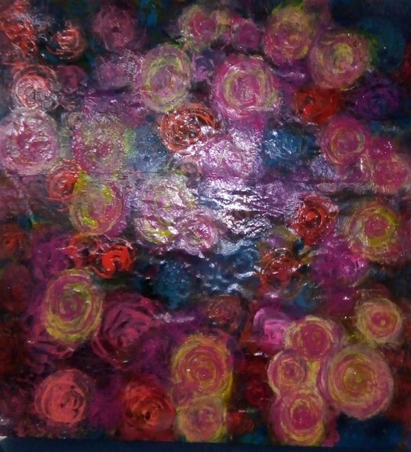 هنر نقاشی و گرافیک محفل نقاشی و گرافیک ندا گودرز نقاشی رنگ و روغن در ابعاد 60در60سانتیمتر