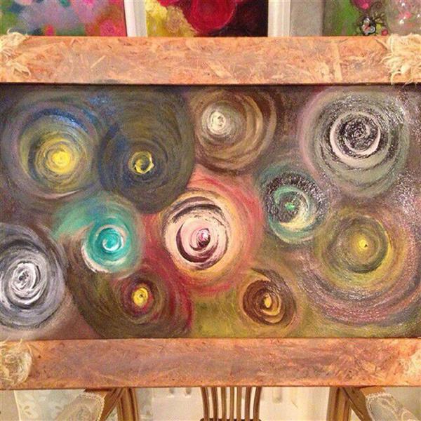 هنر نقاشی و گرافیک محفل نقاشی و گرافیک ندا گودرز نقاشی مدرن با رنگ آکریلیک برروی چوب طبیعی