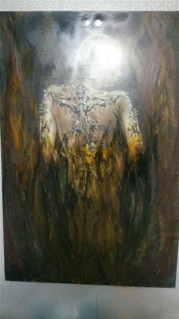 هنر نقاشی و گرافیک محفل نقاشی و گرافیک ندا گودرز فرشته آتش (نقاشی رویه عڪس )