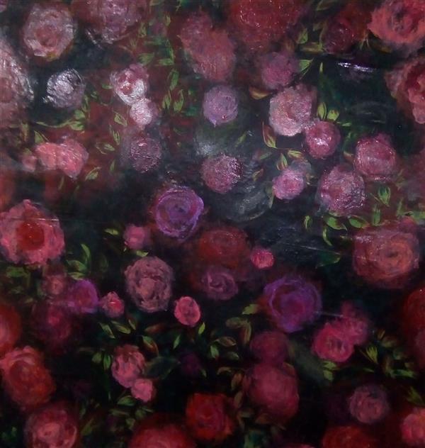 هنر نقاشی و گرافیک محفل نقاشی و گرافیک ندا گودرز نقاشی رنگ روغن برجسته در ابعاد ۶۰×۶۰ سانتیمتر