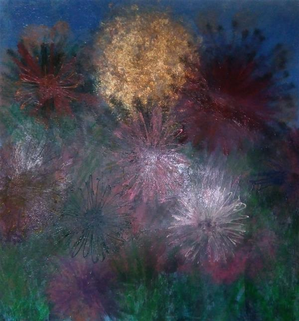 هنر نقاشی و گرافیک محفل نقاشی و گرافیک ندا گودرز تابلوی نقاشی رنگ روغن برجسته در ابعاد ۸۰ ×۸۰ سانتیمتر