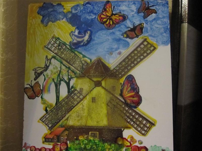 هنر نقاشی و گرافیک محفل نقاشی و گرافیک ندا گودرز نقاشی با ماژیک و رنگ و خمیر روی چوب ام دی اف ابعاد 40 در 40سانت