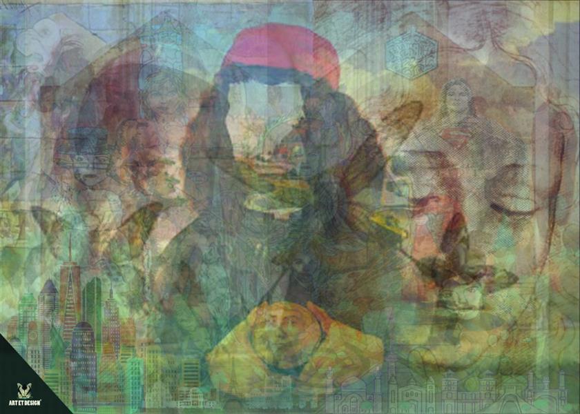 هنر نقاشی و گرافیک محفل نقاشی و گرافیک Art et design Face sureal
