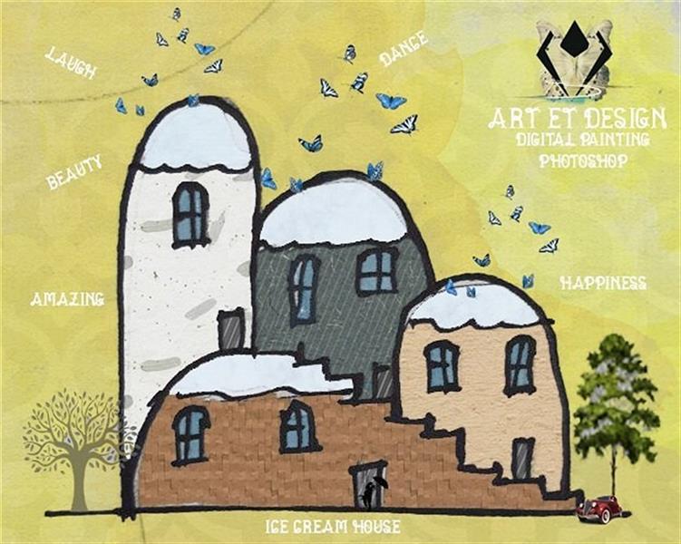 هنر نقاشی و گرافیک محفل نقاشی و گرافیک Art et design Ice cream house