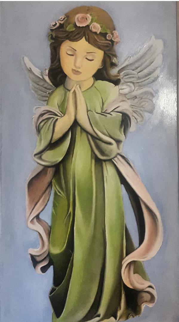 هنر نقاشی و گرافیک محفل نقاشی و گرافیک فرنوش شیروانی رنگ روغن_فرشته