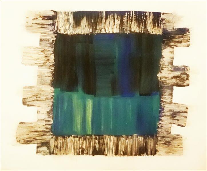هنر نقاشی و گرافیک محفل نقاشی و گرافیک Ml نقاشی مدرن اکرلیک اندازه ۵۰.۵۰