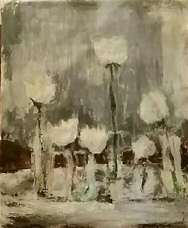 هنر نقاشی و گرافیک محفل نقاشی و گرافیک Ml نقاشی مدرن،اکریلیک،قطع ۴۰.۵۰ ،قاب شده