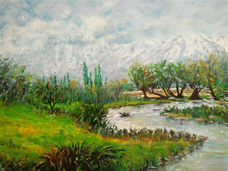 هنر نقاشی و گرافیک محفل نقاشی و گرافیک قیطاسیA-E #رنگوروغن روی بوم #oilpainting اتمام 99/4 #گاماسیاب علی احسان قیطاسی