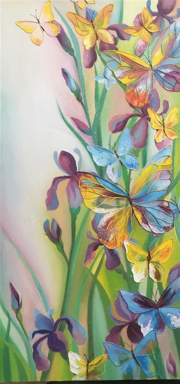 هنر نقاشی و گرافیک محفل نقاشی و گرافیک Safura haddadi کار با #رنگ روغن انجام شده به همراه خطوط برجسته  نام اثر :#زندگی