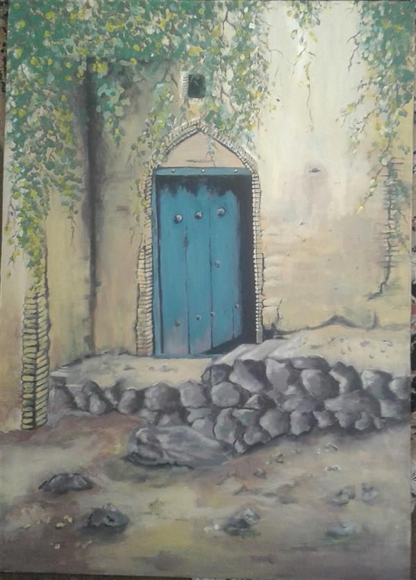 هنر نقاشی و گرافیک محفل نقاشی و گرافیک مهنوش عاقلی اکریلیک طبیعت