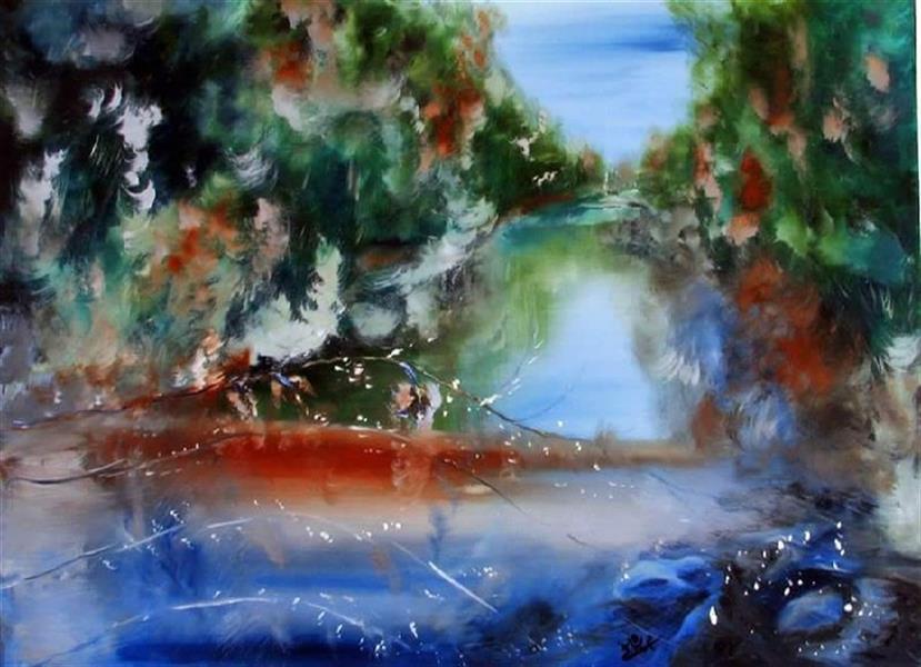 هنر نقاشی و گرافیک محفل نقاشی و گرافیک منصوره اشرافی #رنگ و روغن بر بوم Dimensions:80 * 60