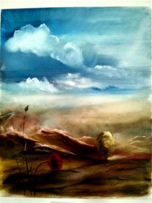 هنر نقاشی و گرافیک محفل نقاشی و گرافیک منصوره اشرافی رنگ و روغن بر بوم  ۵۰&۶۰