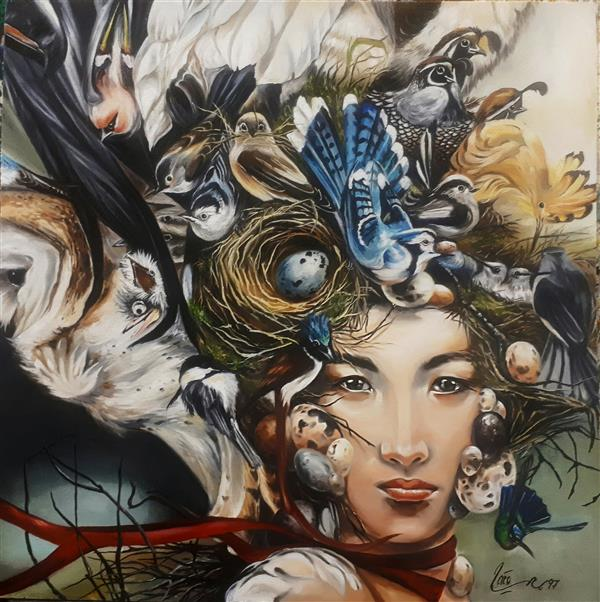 هنر نقاشی و گرافیک محفل نقاشی و گرافیک میترا کلانتری رنگ روغن ابعاد:۶۰*۶۰ #رنگروغن #تکنیک#آموزش#سفارشی