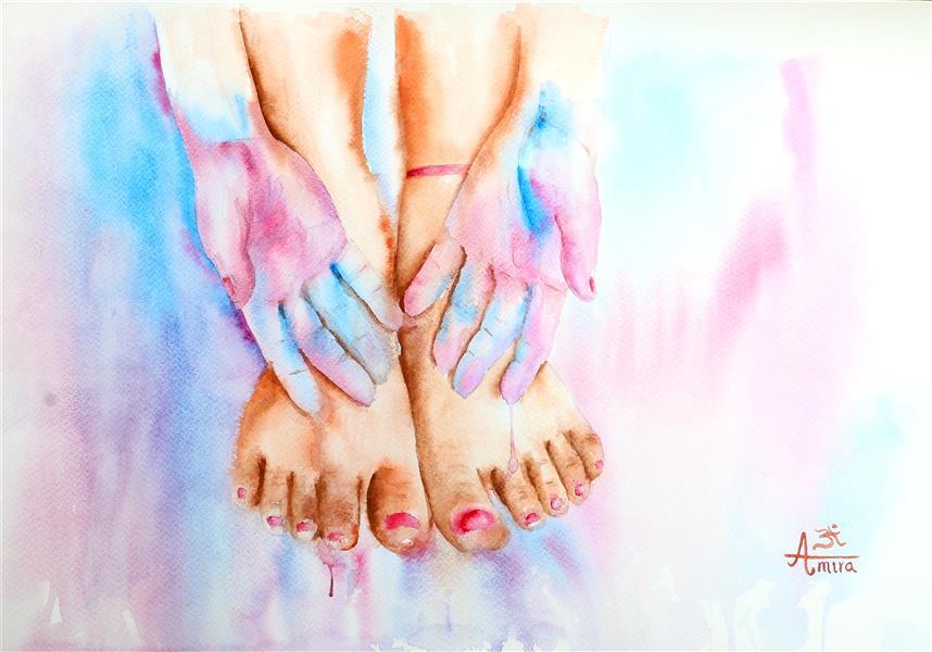 هنر نقاشی و گرافیک محفل نقاشی و گرافیک AmiraAshrafadini #اثر_انگشت_عشق #آبرنگ سایز : 33 * 48 #امیرا #امیرا_اشرف_الدینی #fingerprinting_affection