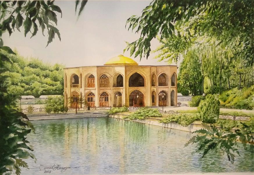 هنر نقاشی و گرافیک محفل نقاشی و گرافیک سید جمال حسینی #ائل_گولی_تبریز #آبرنگ #اورجینال 50×35