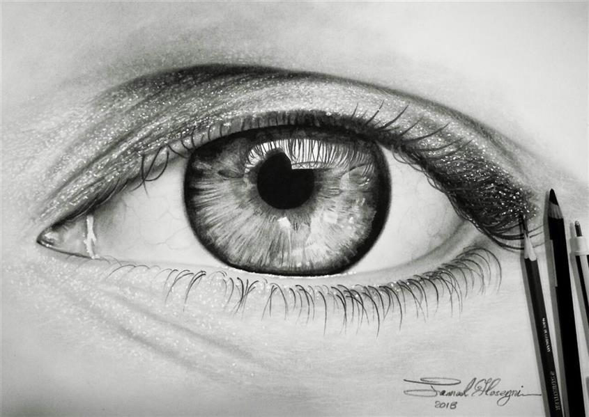 هنر نقاشی و گرافیک محفل نقاشی و گرافیک سید جمال حسینی #چشم سیاه قلم مدادطراحی لوموگراف