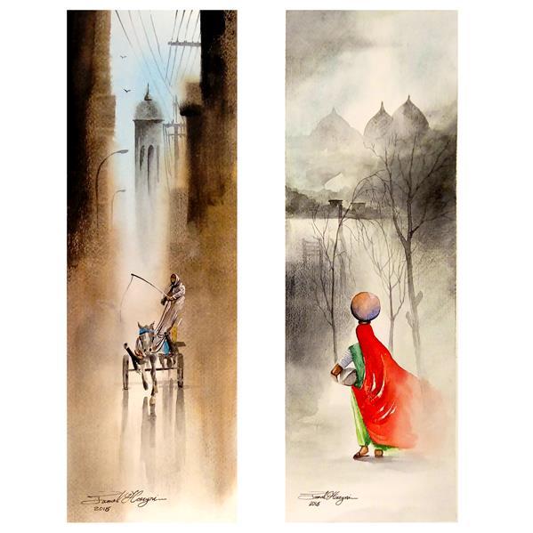 هنر نقاشی و گرافیک محفل نقاشی و گرافیک سید جمال حسینی #آبرنگ  ابعاد15×45
