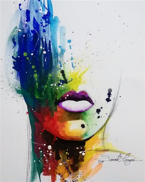 هنر نقاشی و گرافیک محفل نقاشی و گرافیک سید جمال حسینی #آبرنگ #گواش #watercoler اندازه:35×50 #نقاشی_مدرن #نقاشی_فانتزی