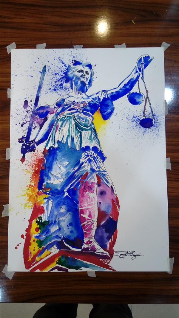 هنر نقاشی و گرافیک محفل نقاشی و گرافیک سید جمال حسینی #آبرنگ نقاشی فانتزی  سفارش و ارسال به تمام شهرها