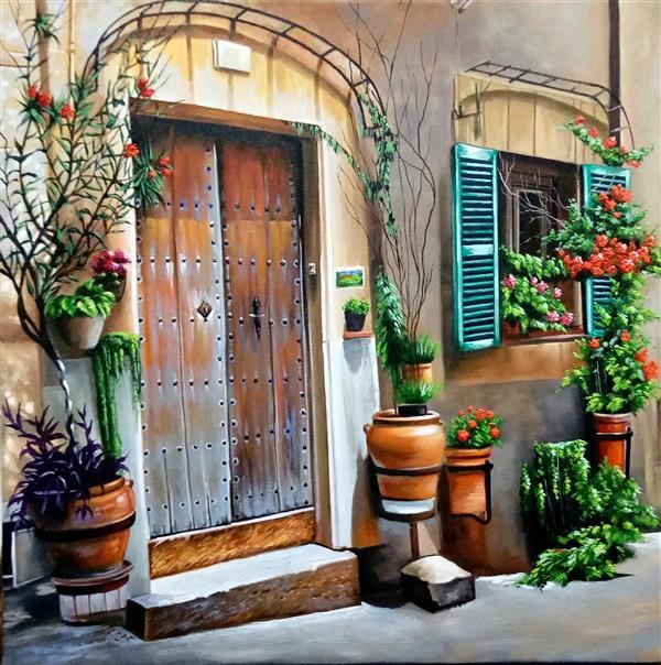 هنر نقاشی و گرافیک محفل نقاشی و گرافیک سید جمال حسینی رنگ روغن روی بوم  سایز 40×40