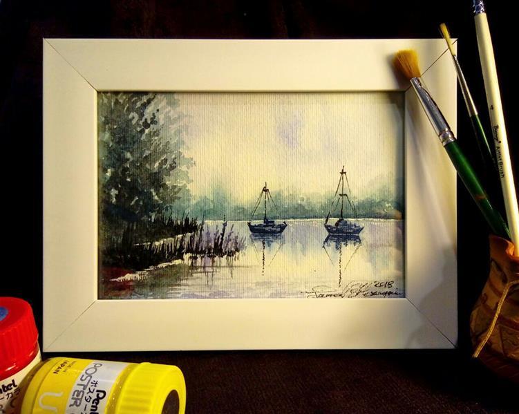 هنر نقاشی و گرافیک محفل نقاشی و گرافیک سید جمال حسینی #آبرنگ #هدیه_ماندگار  سلیز13×18