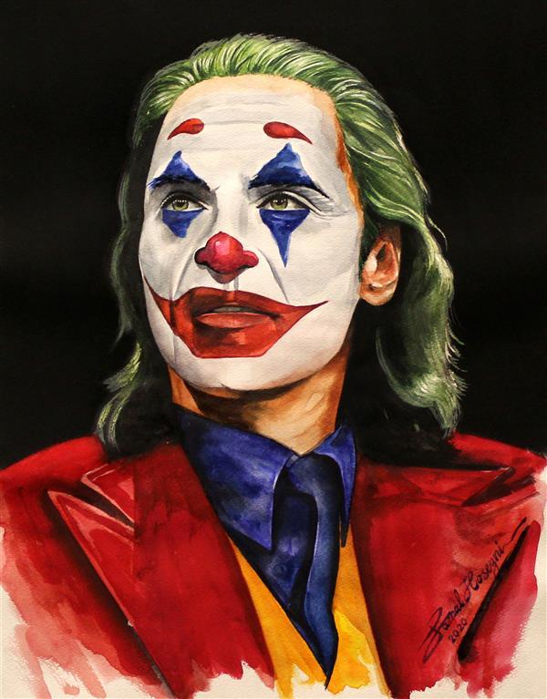 هنر نقاشی و گرافیک محفل نقاشی و گرافیک سید جمال حسینی تکنیک #آبرنگ سایز: 40×50 #جوکر #joker #joker2019
