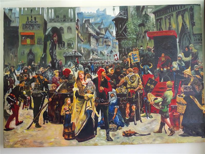 هنر نقاشی و گرافیک محفل نقاشی و گرافیک جمشید چراغیان تکنیک رنگ روغن سبک کلاسیک نام اثر یونان باستان