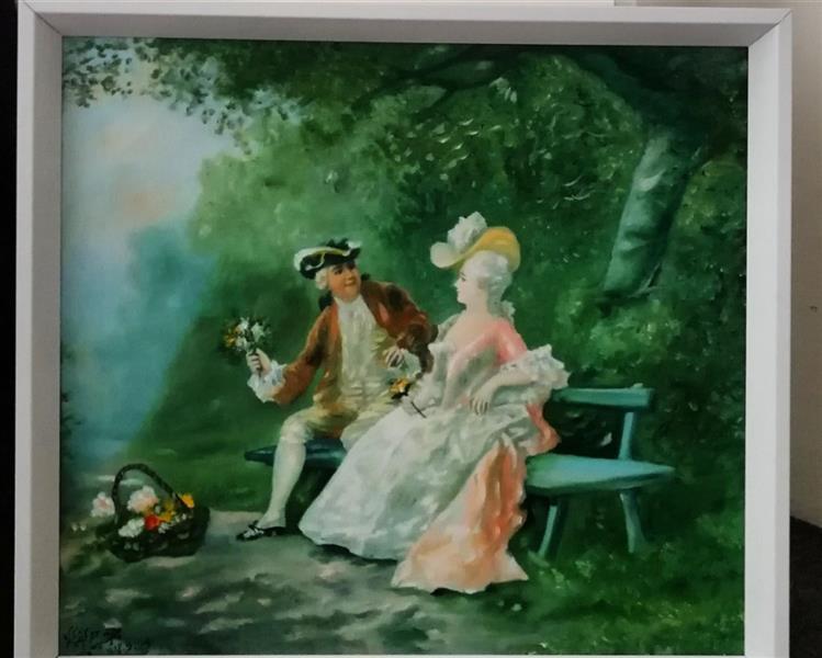 هنر نقاشی و گرافیک محفل نقاشی و گرافیک جمشید چراغیان تکنیک رنگ روغن سبک کلاسیک مدل فرانسوی اثر جمشید چراغیان اندازه ۵۰٫۴۵