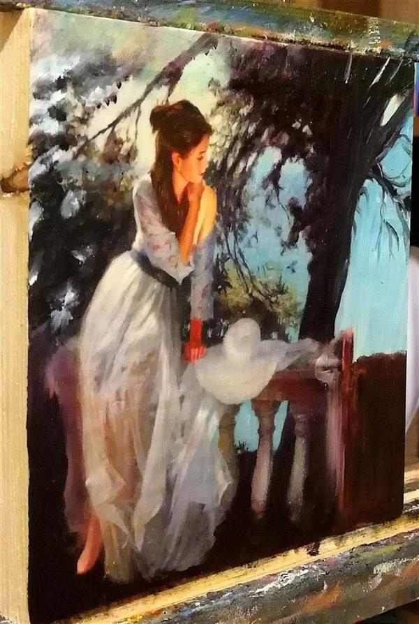 هنر نقاشی و گرافیک محفل نقاشی و گرافیک جمشید چراغیان تکنیک رنگ روغن سبک کلاسیک روی چوب اثر جمشید چراغیان اندازه ۲۵٫۲۰