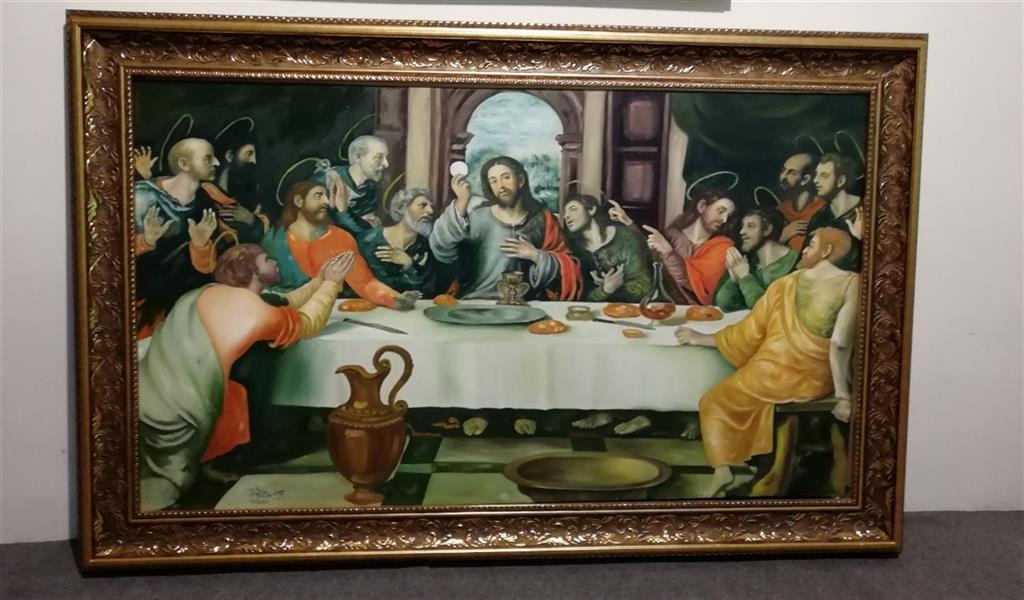 هنر نقاشی و گرافیک محفل نقاشی و گرافیک جمشید چراغیان تکنیک رنگ روغن سبک کلاسیک نام اثر شام آخر اندازه ۱۲۰/۷۰اثرجمشیدچراغیان
