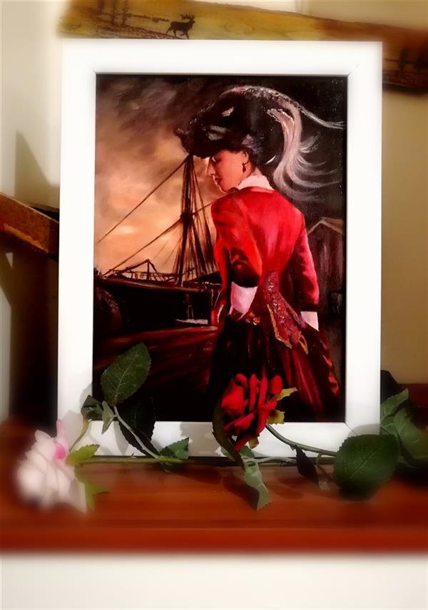 هنر نقاشی و گرافیک محفل نقاشی و گرافیک جمشید چراغیان تکنیک رنگ روغن نقاشی روی چوب اثر جمشید چراغیان اندازه 30.20